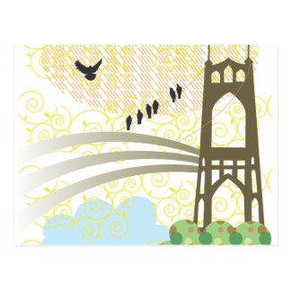 Carte postale de Portland de pont de St Johns