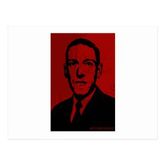 Carte postale de portrait de HP Lovecraft