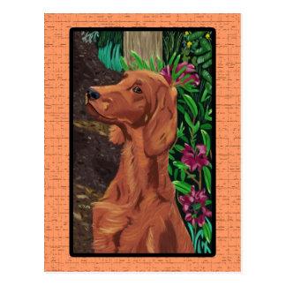Carte postale de poseur de jardin
