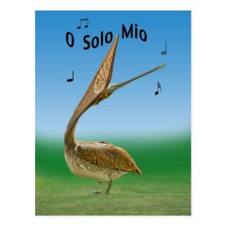 Carte postale de poussin de grue de chant Sandhill