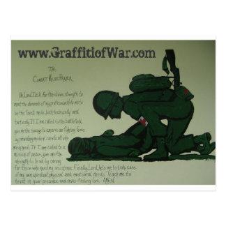 Carte postale de prière de médecin de combat