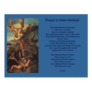 Carte postale de prière de St Michael