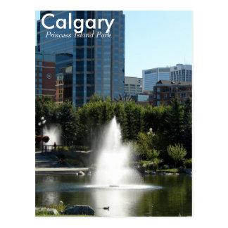 Carte postale de princesse Island Park de Calgary