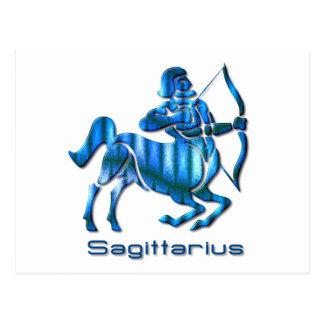 Carte postale de profil de Sagittaire