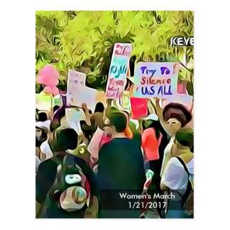 Carte postale de protestation de mars des femmes