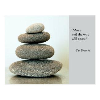 Carte postale de proverbe de zen