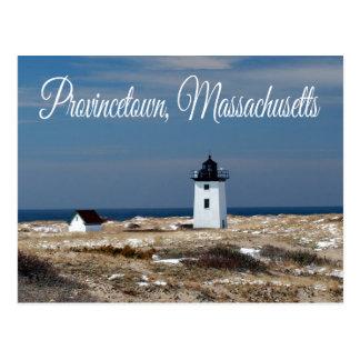 Carte postale de Provincetown mA de phare de Cape