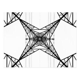 Carte postale de pylônes de l'électricité