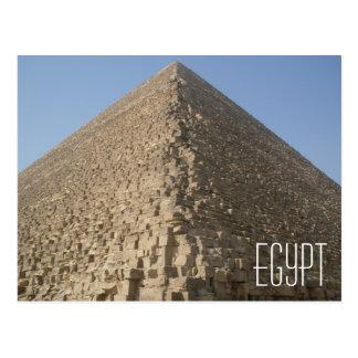 Carte postale de pyramide de l'Egypte