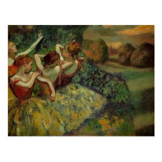 Carte postale de quatre danseurs