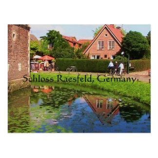 Carte postale de Raesfeld de château (Allemagne)