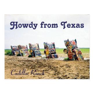 Carte postale de ranch de Cadillac