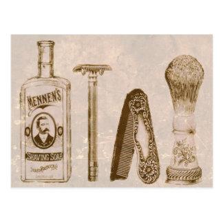 Carte postale de rasage de rasoir du kit des
