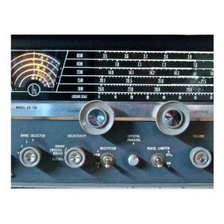 Carte postale de récepteur radioélectrique d'ondes