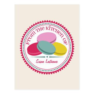 Carte postale de recette de Macarons de quatre