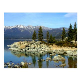 Carte postale de réflexion et de chaîne du lac