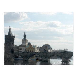 Carte postale de République Tchèque de Prague de