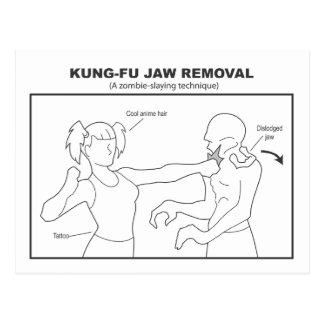 Carte postale de retrait de mâchoire de Kung-Fu