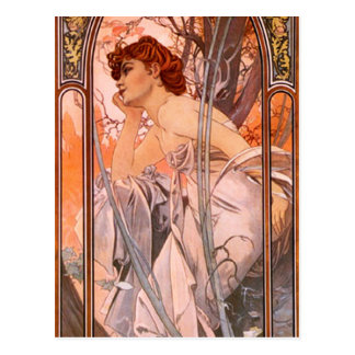 Carte postale de rêverie de soirée d'Alphonse