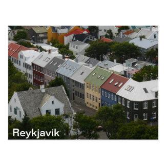 Carte postale de Reykjavik Islande
