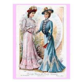 Carte postale de robes de début de l'été du cru