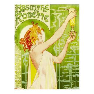 Carte postale de Robette d'absinthe d'Alphonse