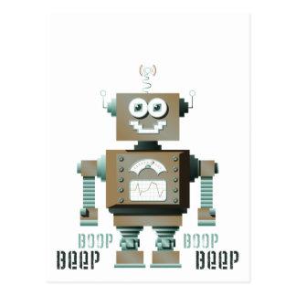 Carte postale de robot de jouet de signal sonore