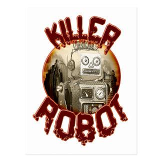 Carte postale de robot de tueur