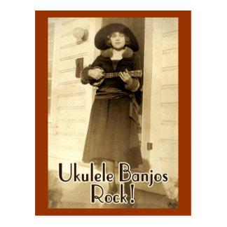 Carte postale de roche de banjos d'Uke