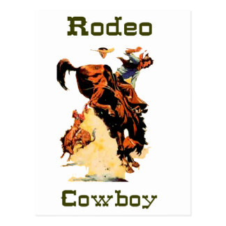Carte postale de rodéo de cowboy