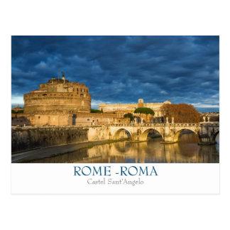 Carte postale de Rome - de Castel Sant'Angelo avec