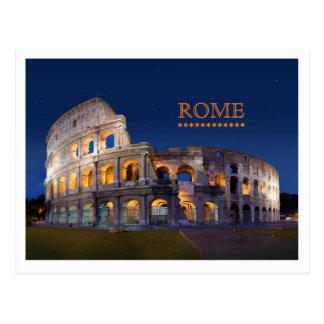 Carte postale de Rome de Colisé