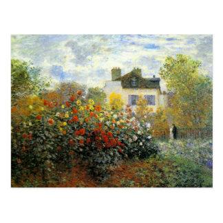 Carte postale de roseraie de Monet