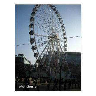 Carte postale de roue de Manchester