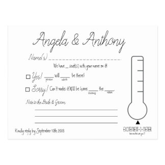 Carte postale de RSVP (mariage)