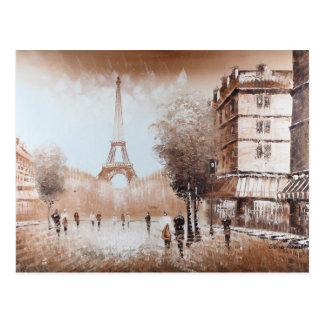 Carte postale de rues de Paris