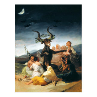 Carte postale de sabbath de Goya