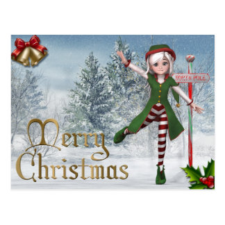 Carte postale de Sadie Elf de Joyeux Noël