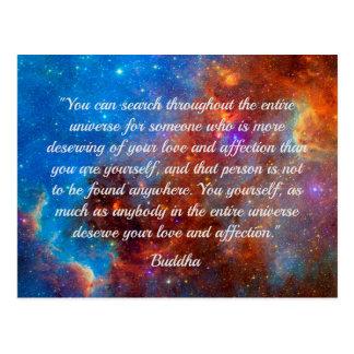 Carte postale de sagesse du bonheur de Bouddha