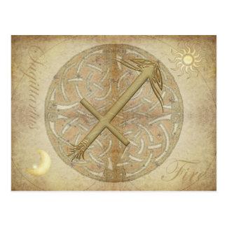 Carte postale de Sagittaire de signe de zodiaque