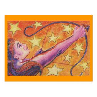 Carte postale de Sagittaire de zodiaque