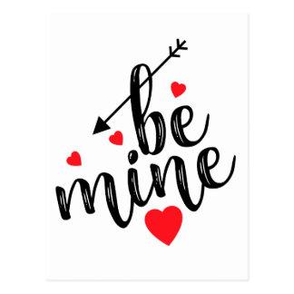 Carte postale de Saint-Valentin - soyez le mien