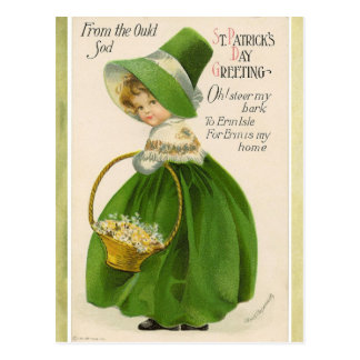 Carte postale de salutation du jour de St Patrick