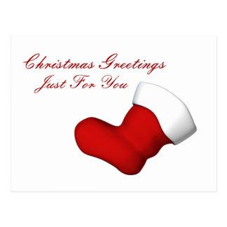Carte postale de salutations de bas de Noël