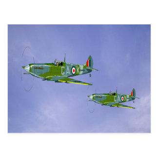 Carte postale de salutations de Spitfire
