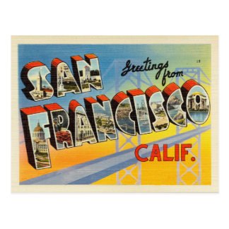 Carte postale de San Francisco la Californie