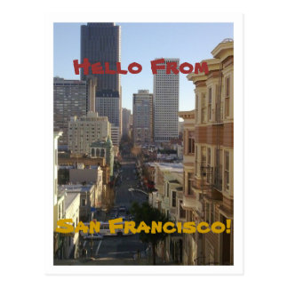 Carte postale de San Francisco, la Californie