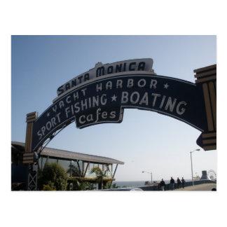 Carte postale de Santa Monica, la Californie