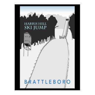 Carte postale de saut à skis de colline de Harris