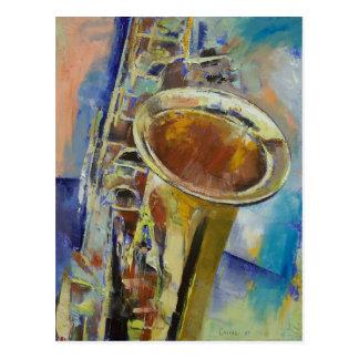 Carte postale de saxophone